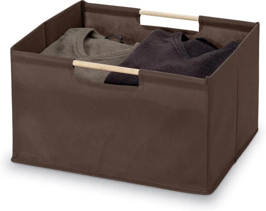 Hnedý úložný box Bonita Basket, malý