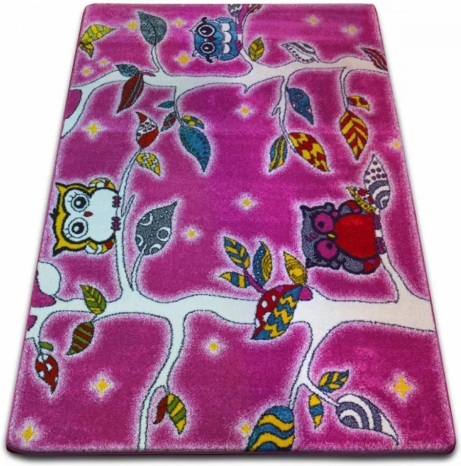 Detský kusový koberec Na strome ružový, Velikosti 240x330cm