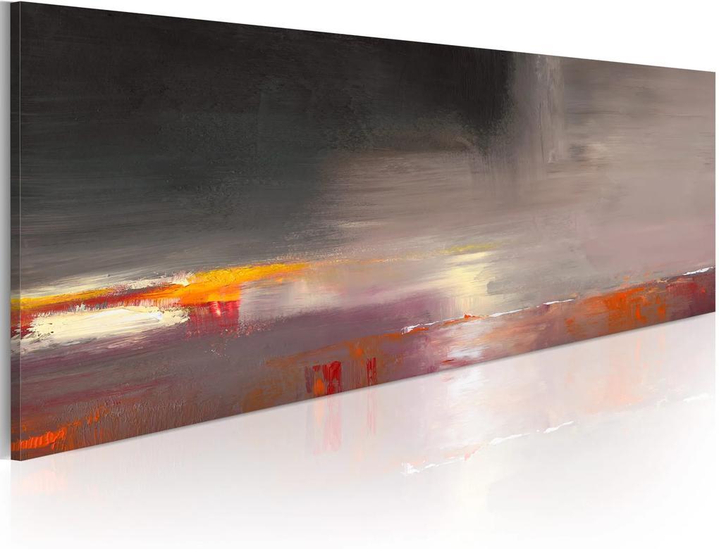 Ručne maľovaný obraz - Foggy sea 100x40