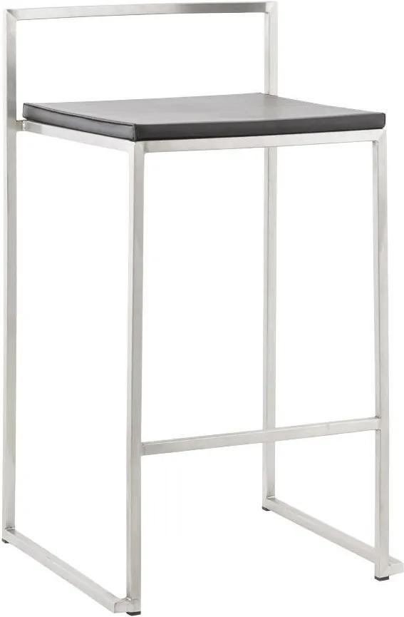 Moderná barová stolička Owen čierna