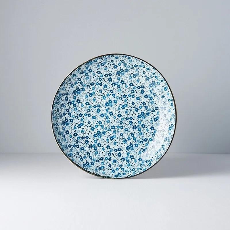 MADE IN JAPAN Plytký tanier Blue Daisy 23 cm