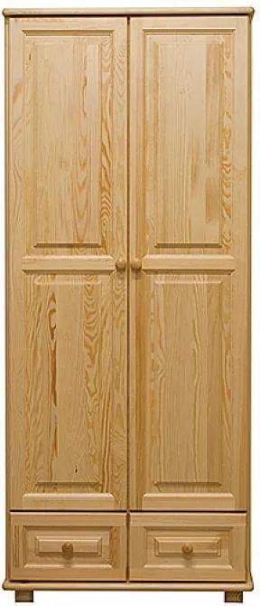 AMI nábytok skříň 2Dč5 šířka 80 borovice věšák