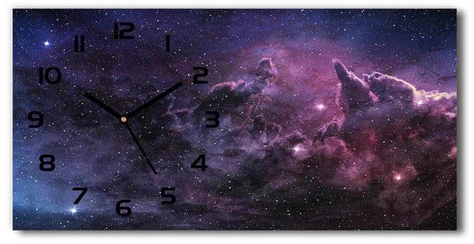 Moderné sklenené hodiny na stenu Hmlovina pl_zsp_60x30_f_96217805