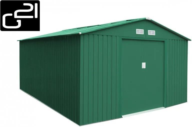 G21 - Záhradný domček G21 GAH 1092 - 311 x 351 cm, zelený 6390056