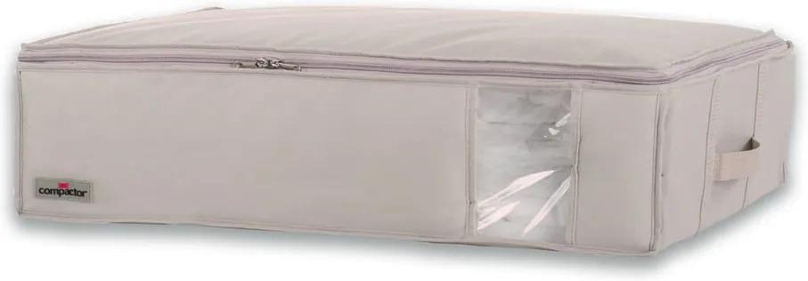 Béžový úložný box na oblečenie Compactor Aspilito, 145 l