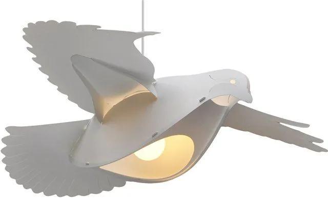 MAXMAX Detská závesná lampa holubičky - biela