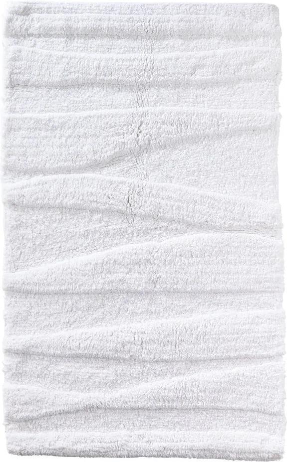 Biela kúpeľňová predložka Zone Flow, 50 × 80 cm