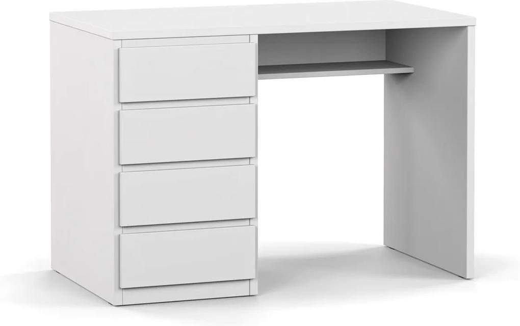 DREVONA09 Písací stolík ľavý biely RP POLO 2