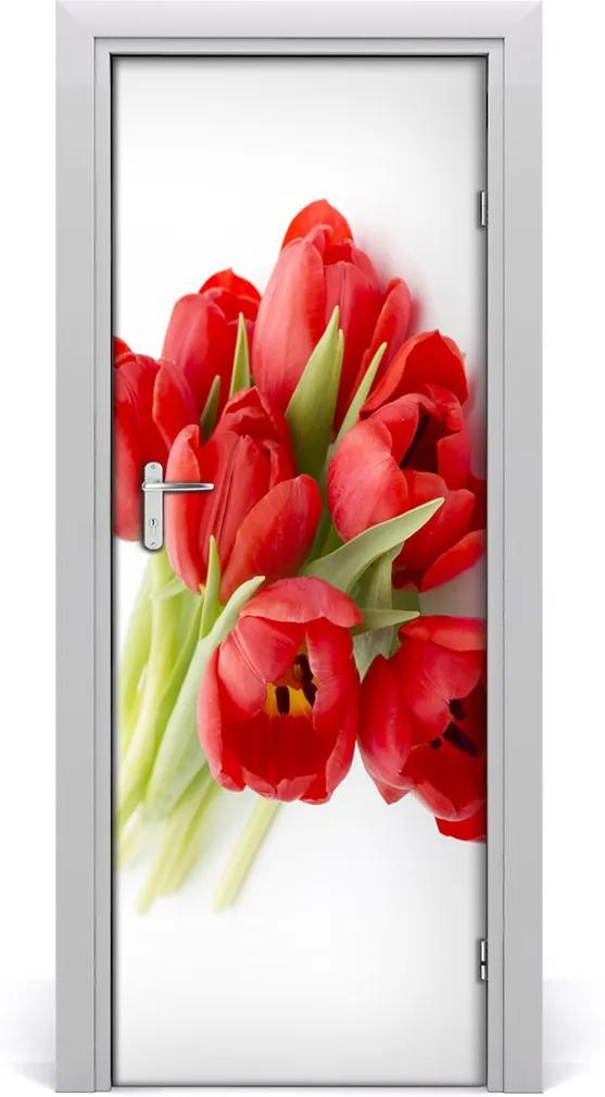Fototapeta samolepiace  červené tulipány