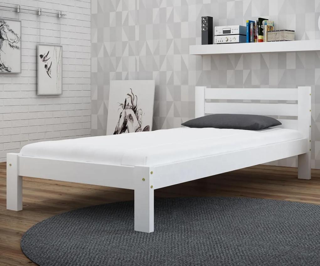 AMI nábytok Posteľ biela Ajza 90x200