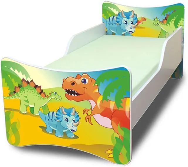 MAXMAX Detská posteľ 200x90 cm - DINO 200x90 pre chlapca NIE
