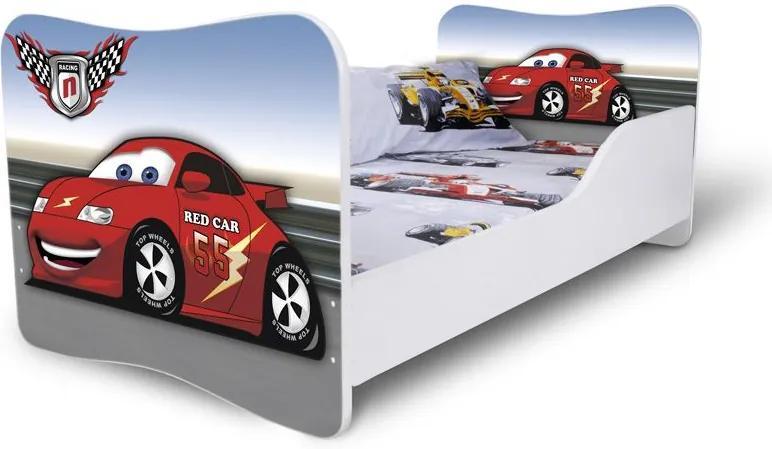 MAXMAX Detská posteľ RED CAR 1 + matrac ZADARMO