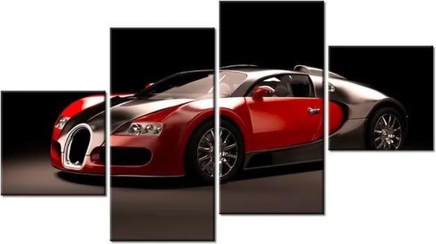 Tlačený obraz Červené Bugatti Veyron 160x90cm 2376A_4Q