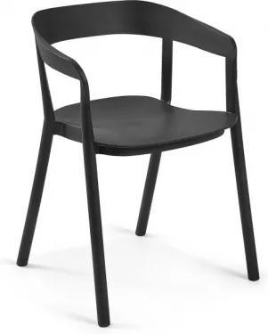 NIELS stolička Čierna