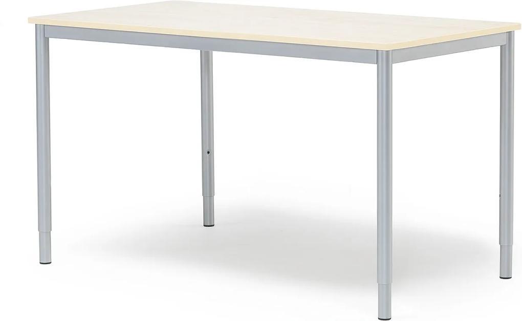 Prídavný kancelársky pracovný stôl Adeptus 1200x600 mm, breza/šedá