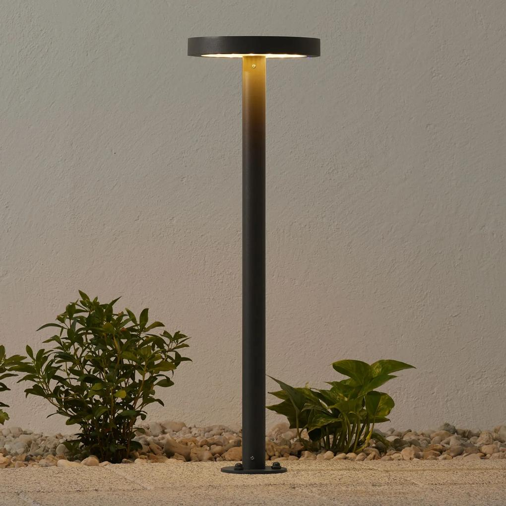 Solárne chodníkové LED svietidlo Linja okrúhle