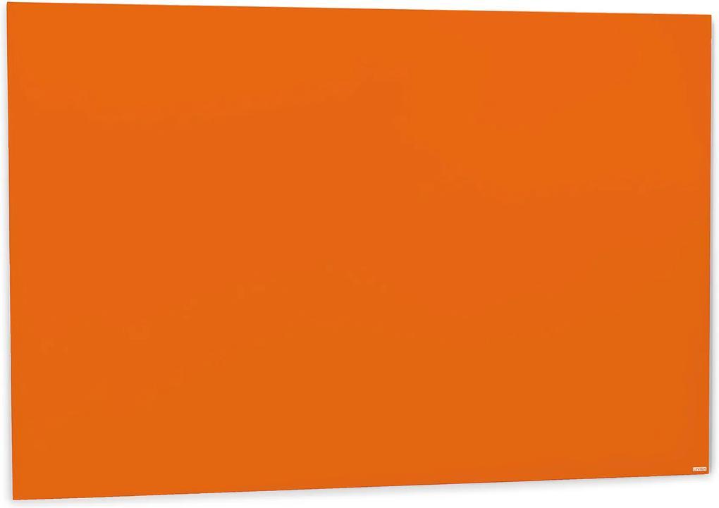 Sklenená magnetická tabuľa Stella, 1500x1000 mm, svetlooranžová