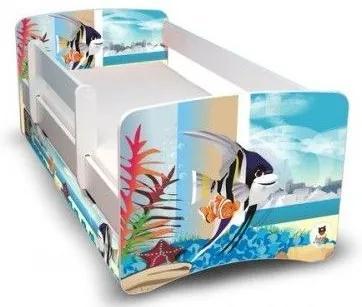 MAXMAX Detská posteľ 160x90 cm so zásuvkou - AKVÁRIUM II 160x90 pre všetkých ÁNO