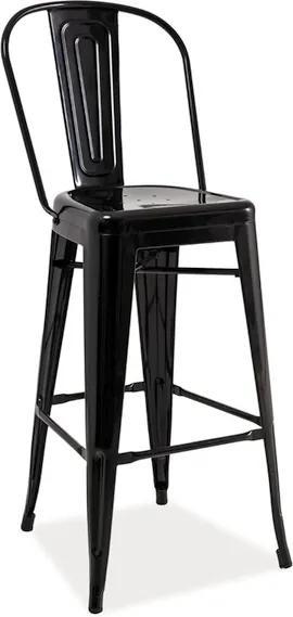Najlacnejsinabytok LOFT H-1 barová stolička, čierna