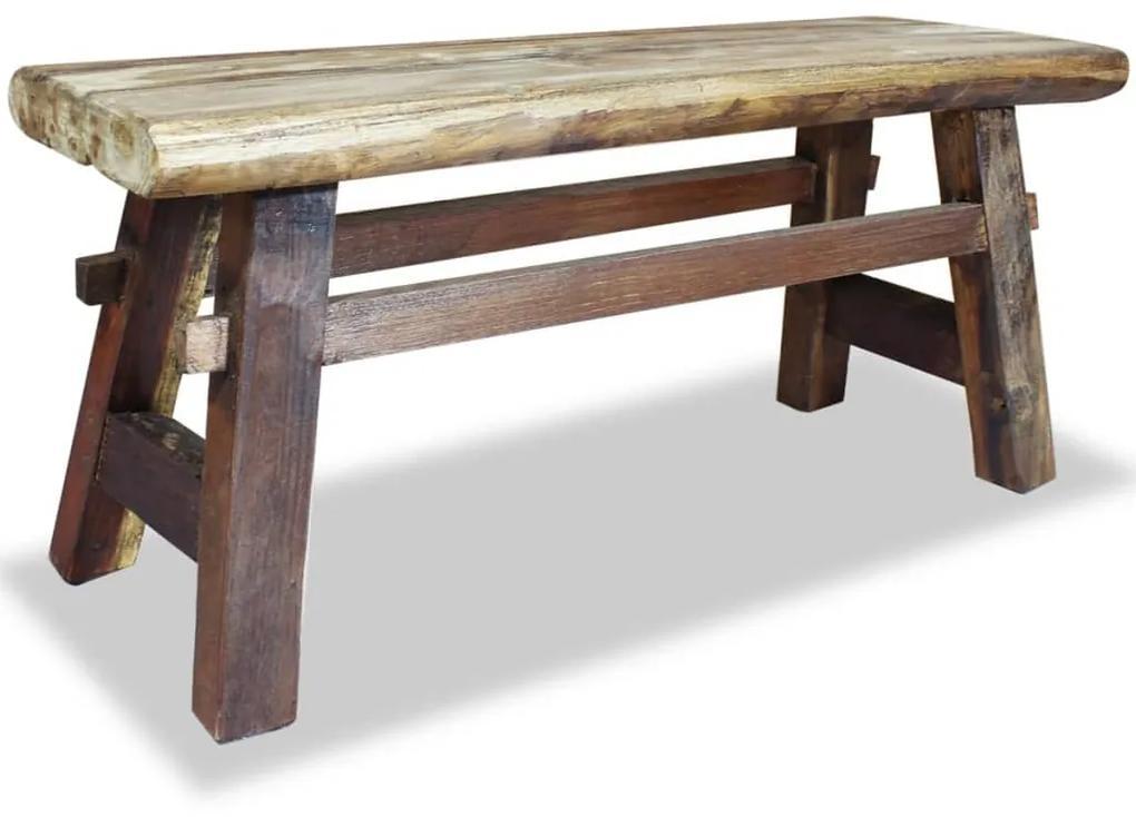 36afc2b3618c Lavička z masívneho recyklovaného dreva