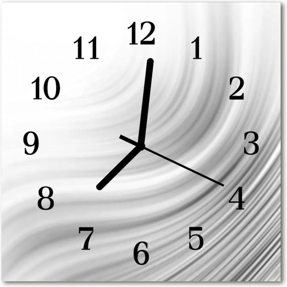 Skleněné hodiny čtvercové abstrakce