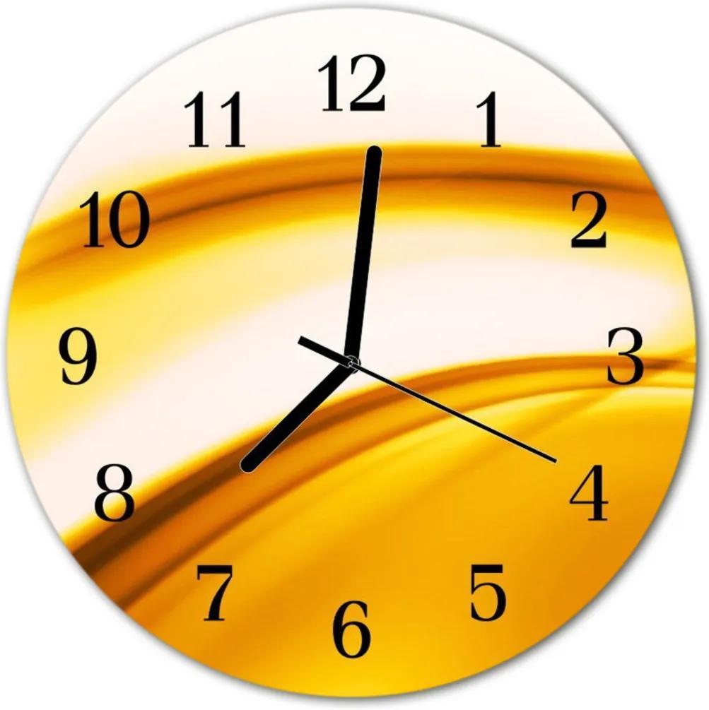 Skleněné hodiny kulaté Abstraktní umění