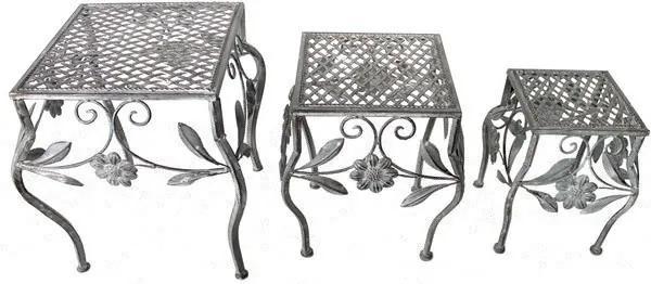 Kovové stoličky - hranaté LE-4319