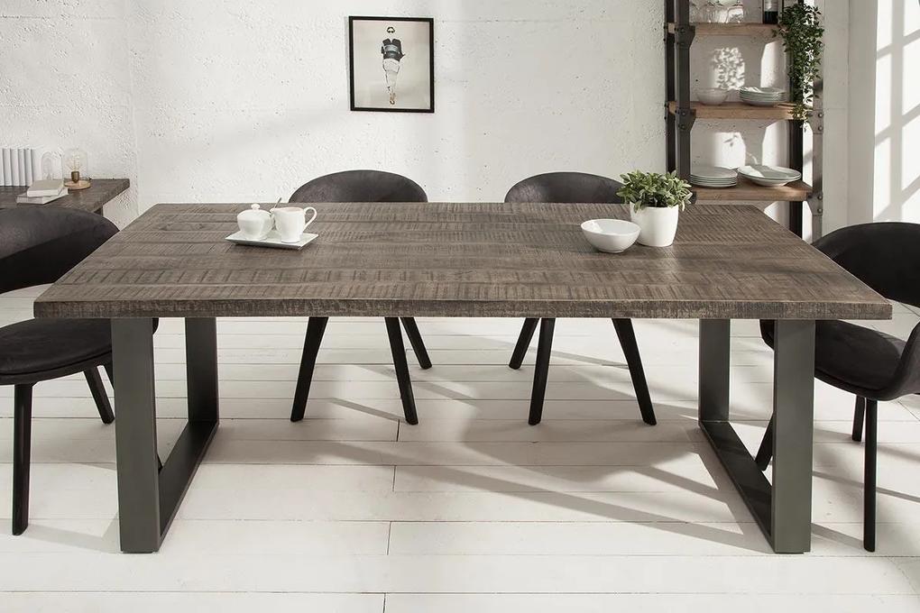 Jedálenský stôl Thunder 160 sivé mango