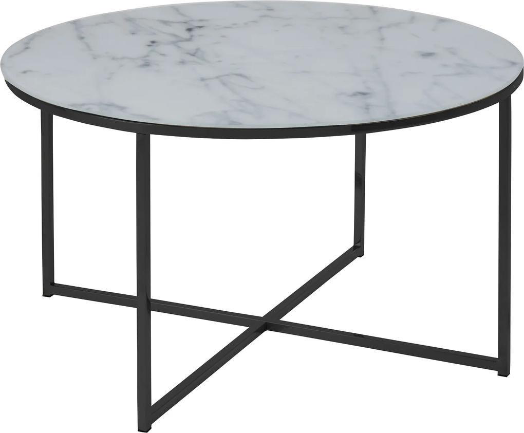 Konferenčný stolík Agostino, biela / čierna