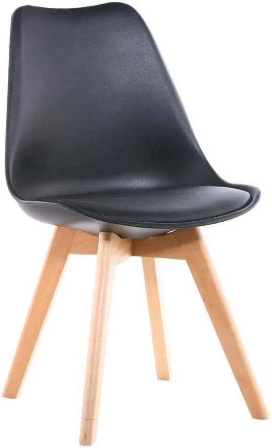 Jedálenská stolička SCANDI čierna - škandinávsky štýl