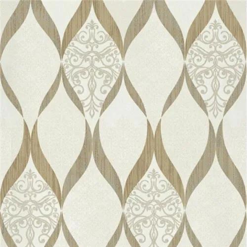 Luxusné vliesové tapety na stenu G.M.Kretschmer Deluxe 41006-20, kašmírový vzor zlato- krémový, rozmer 10,05 m x 0,53 m, P+S International