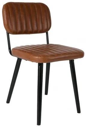 Židle JAKE Cognac White Label Living 1100261
