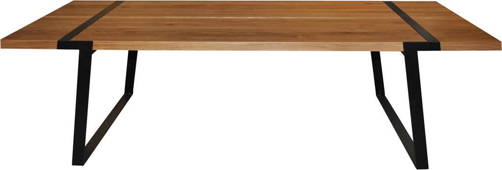 Bighome - Jedálenský stôl GIGANT 240x100, prírodná, čierna