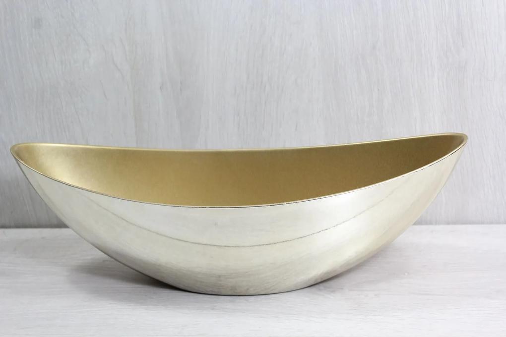 Plastová misa - zlatá (39x13x12,5 cm)