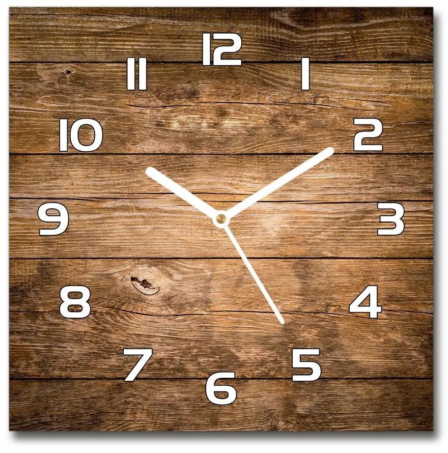 Sklenené hodiny štvorec Drevené pozadie pl_zsk_30x30_f_121712969