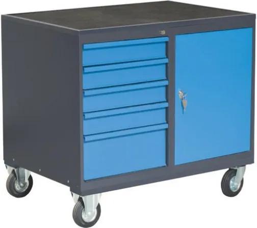 NABBI PLW01G/P6P1 dielenský vozík na kolieskach so zámkom grafit / modrá