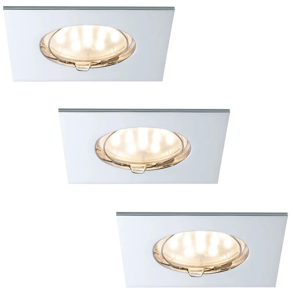 Paulmann Paulmann 92763 - SADA 3xLED/6,8W Kúpeľňové podhľadové svietidlo COIN 230V IP44 W0926
