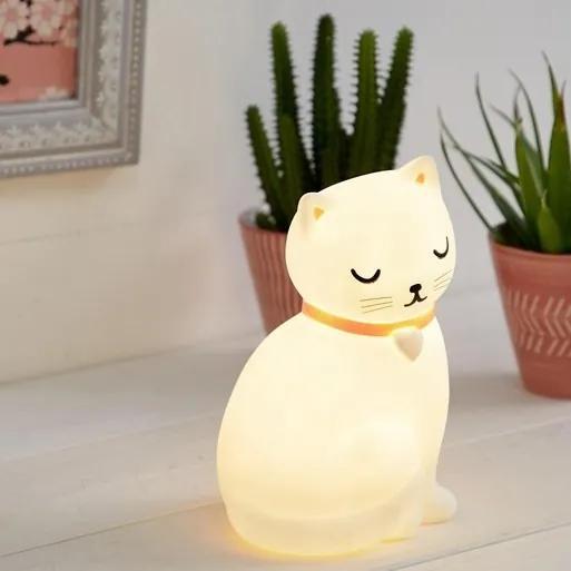 Sass & Belle Nočné LED svetlo do detskej izbičky Mačička