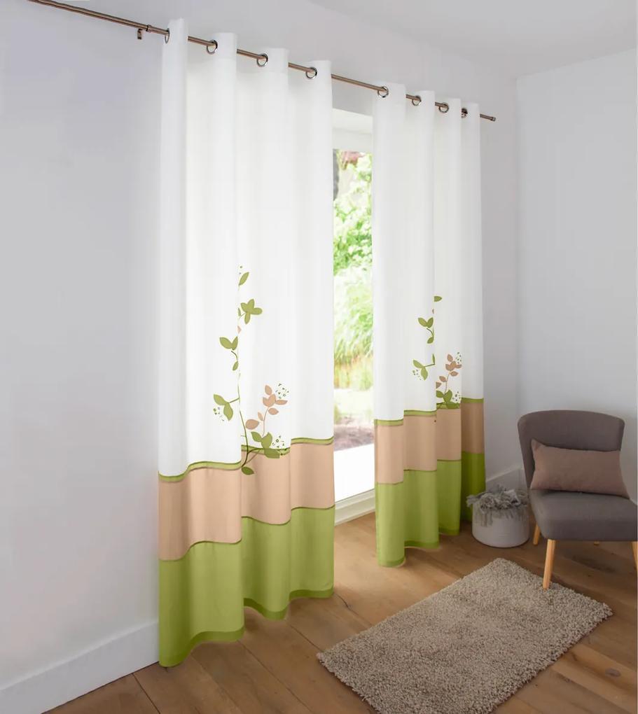 Voálový zaves Orchidea, zelená Barva: zelená, Velikost: 140x260cm