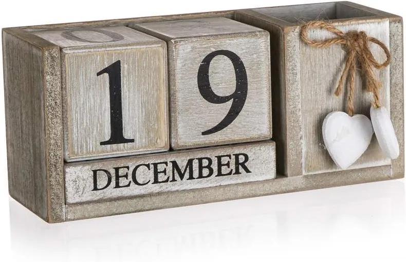 Drevobox Drevený kalendár - SOLID HEART