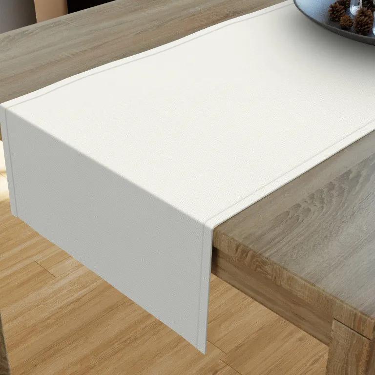 Goldea dekoračný behúň na stôl verona - smotanový 20x120 cm