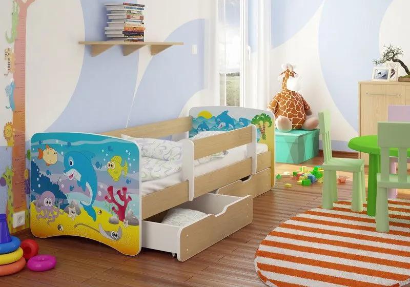 MAXMAX Detská posteľ pod hladinou funny 160x90cm - so zásuvkou 160x90 pre všetkých ÁNO