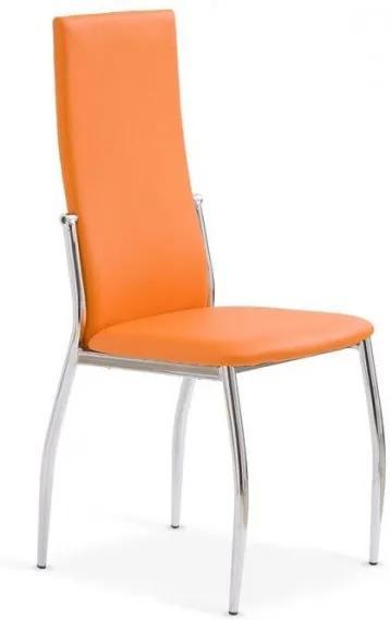 Jedálenská stolička Morgan oranžová