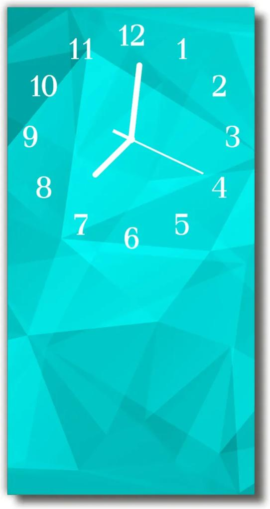 Nástěnné hodiny vertikální Zelené umění