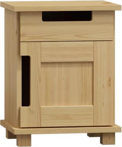 AMI nábytok Noční stolek Modern bílá
