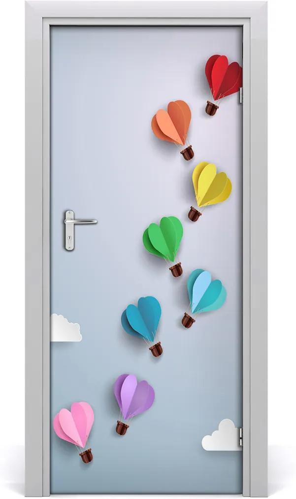 Samolepící fototapeta na dveře Balóny srdce