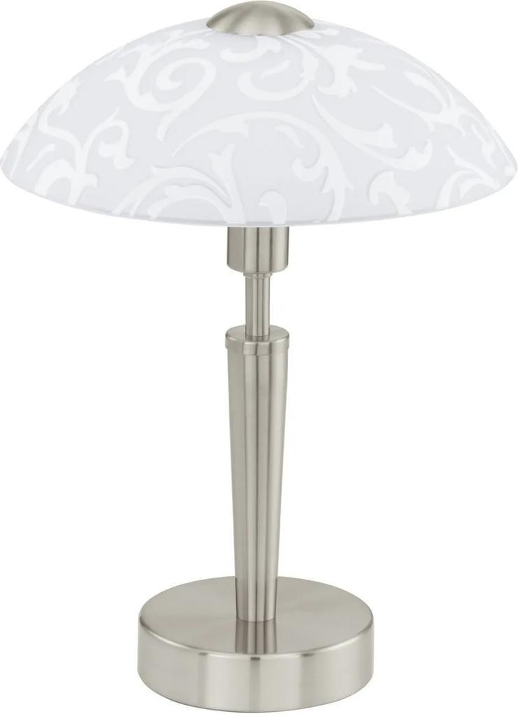 EGLO Eglo 91238 TL/1 M.TOUCH.NICKEL-M/WS M.DEKOR SOLO stolná lampa