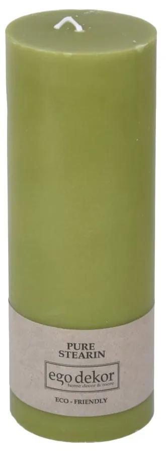 Zelená sviečka Baltic Candles Eco, výška 20 cm