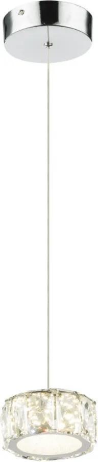 Globo 49350H Závesné Svietidlá 1-Ramenné AMUR chróm kov LED - 1 x 8W 620lm 4000K IP20 A+