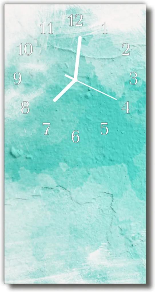 Nástěnné hodiny vertikální Zdi zelené barvy